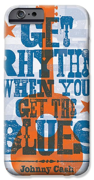Get Rhythm - Johnny Cash Lyric Poster IPhone 6s Case