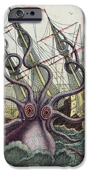 Giant Octopus IPhone 6s Case by Denys Montfort