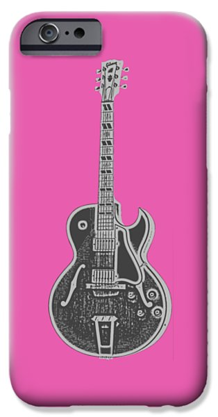 Guitar iPhone 6s Case - Gibson Es-175 Electric Guitar Tee by Edward Fielding