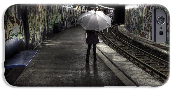 Girl At Subway Station IPhone Case by Joana Kruse