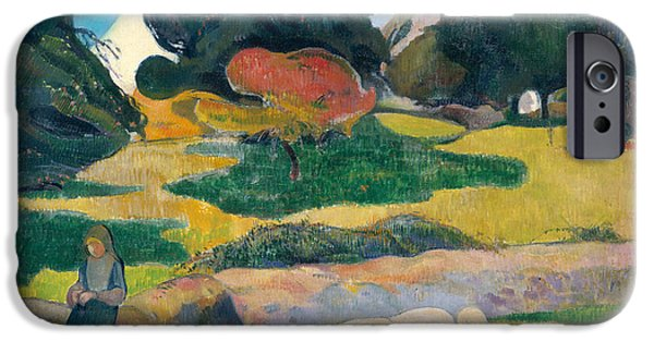 Girl Herding Pigs IPhone 6s Case by Paul Gauguin