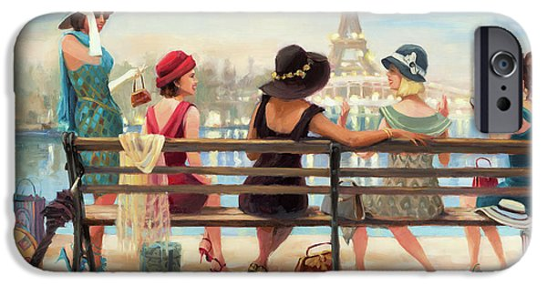 Eiffel Tower iPhone 6s Case - Girls Day Out by Steve Henderson