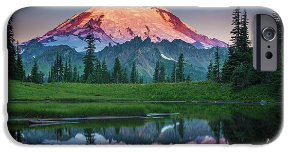 Glowing Peak - August IPhone 6s Case by Inge Johnsson