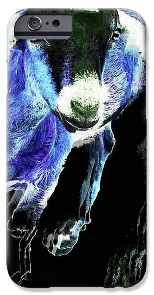 Goat Pop Art - Blue - Sharon Cummings IPhone 6s Case by Sharon Cummings