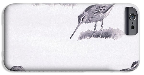 Sandpiper iPhone 6s Case - Godwits And Green Sandpipers by Archibald Thorburn