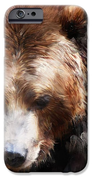 Bear iPhone 6s Case - Bear // Gold by Amy Hamilton
