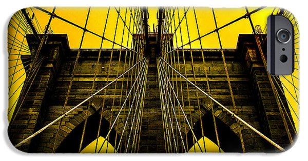 Brooklyn Bridge iPhone 6s Case - Golden Arches by Az Jackson