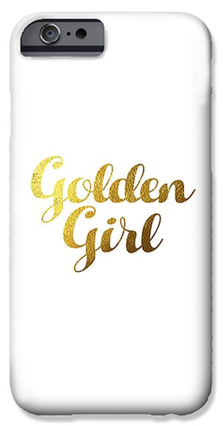 Golden Girl Typography IPhone 6s Case by BONB Creative
