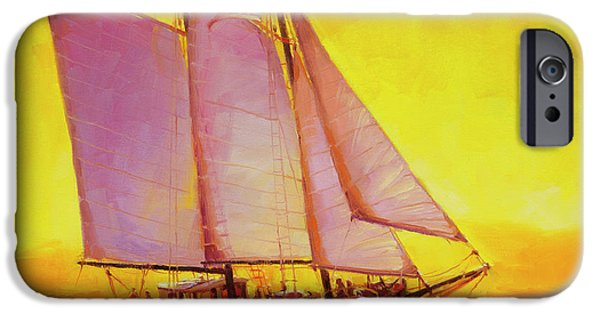 Sailboat iPhone 6s Case - Golden Sea by Steve Henderson