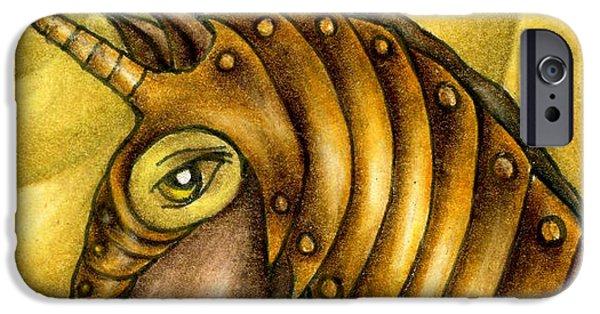 Golden Unicorn Warrior Art IPhone 6s Case