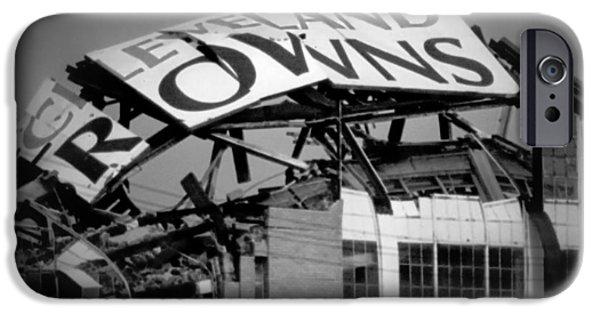 Football iPhone 6s Case - Goodbye Cleveland Stadium by Kenneth Krolikowski