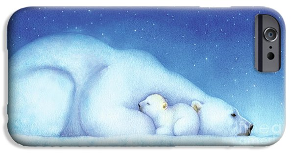 Polar Bear iPhone 6s Case - Arctic Bears, Goodnight Nanook by Tracy Herrmann