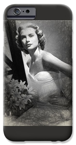 Grace Kelly Drawing IPhone 6s Case by Quim Abella