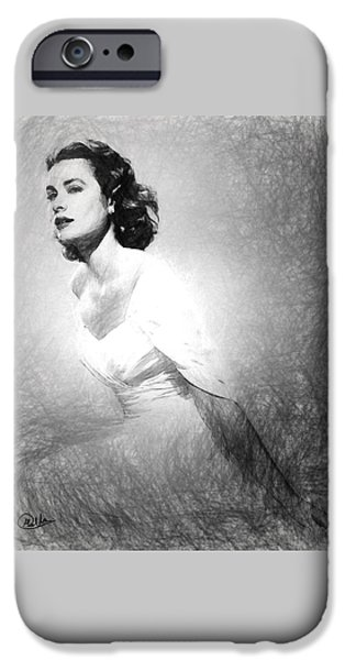 Grace Kelly Sketch IPhone 6s Case by Quim Abella