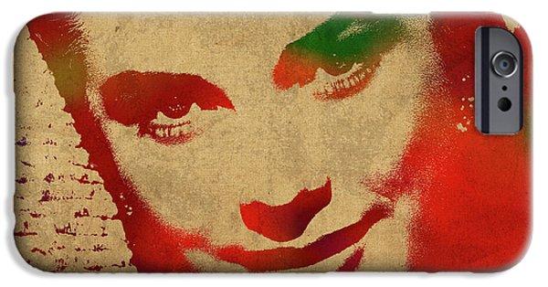 Grace Kelly Watercolor Portrait IPhone 6s Case by Design Turnpike