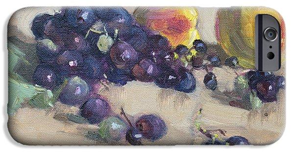 Peach iPhone 6s Case - Grape And Peach by Ylli Haruni