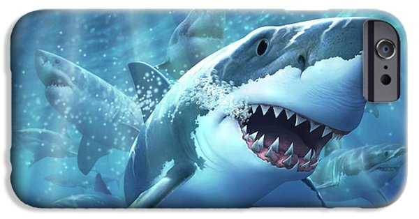 Sharks iPhone 6s Case - Great White Shark by Jerry LoFaro