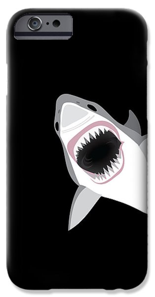 Scuba Diving iPhone 6s Case - Great White Shark by Antique Images