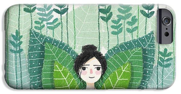 Green IPhone 6s Case by Carolina Parada