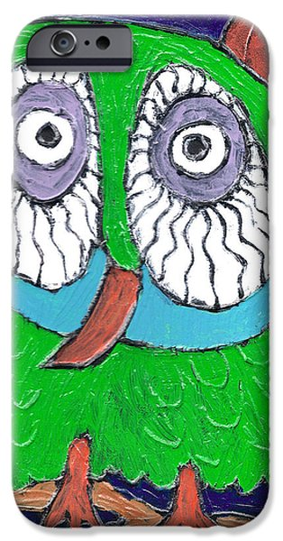 Green Hooter IPhone Case by Wayne Potrafka