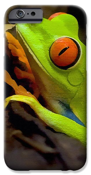 Green Tree Frog IPhone 6s Case by Sharon Foster