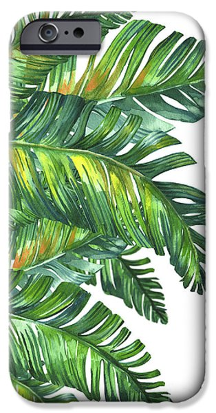 Flowers iPhone 6s Case - Green Tropic  by Mark Ashkenazi