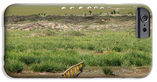 IPhone 6s Case featuring the photograph Greenery In Desert, Gobi, 2016 by Hitendra SINKAR