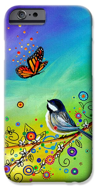 Chickadee iPhone 6s Case - Greetings by Cindy Thornton