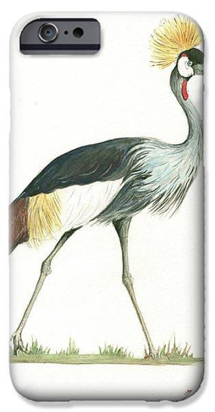 Crane iPhone 6s Case - Grey Crowned Crane by Juan Bosco