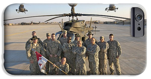 Helicopter iPhone 6s Case - Group Photo Of U.s. Soldiers At Cob by Terry Moore