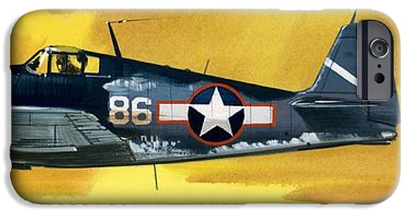 Airplane iPhone 6s Case - Grumman F6f-3 Hellcat by Wilf Hardy