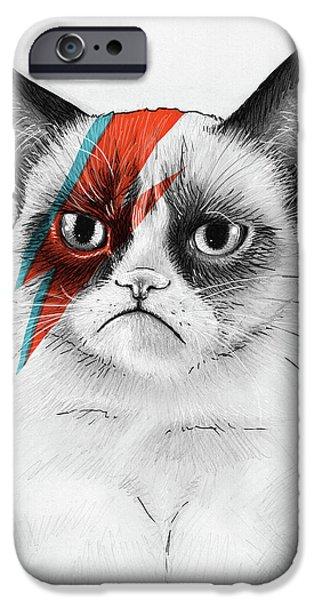 Grumpy Cat As David Bowie IPhone 6s Case by Olga Shvartsur