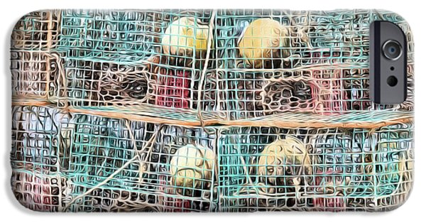 IPhone 6s Case featuring the digital art Gulf Coast Crab Traps by JC Findley