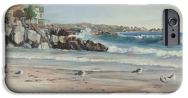 New England Coast iPhone 6s Case - Gulls At Rest by P Anthony Visco
