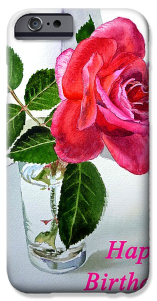 Happy Birthday Card Rose  IPhone 6s Case