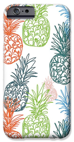 Fruits iPhone 6s Case - Happy Pineapple- Art By Linda Woods by Linda Woods