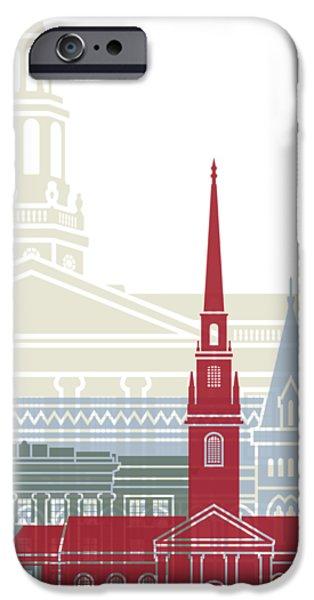 Harvard iPhone 6s Case - Harvard Skyline Poster by Pablo Romero