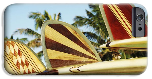 Hawaiian Design Surfboards IPhone Case by Vince Cavataio - Printscapes