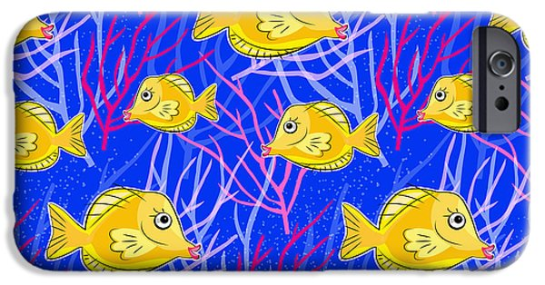 Scuba Diving iPhone 6s Case - Hawaiian Yellow Tang  by Antique Images