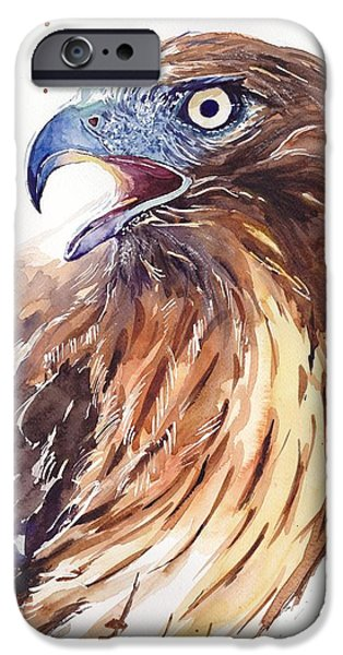Pigeon iPhone 6s Case - Hawk Watercolor by Suzann's Art