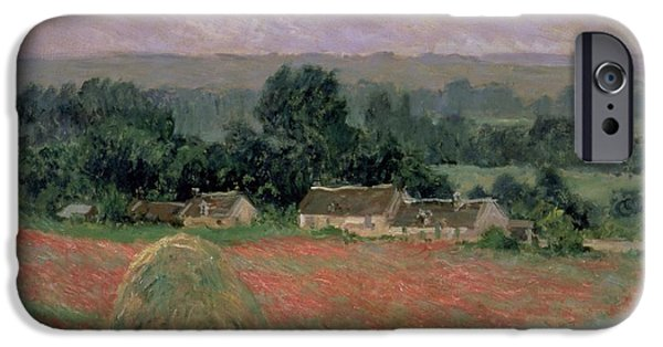 Haystack At Giverny IPhone Case by Claude Monet