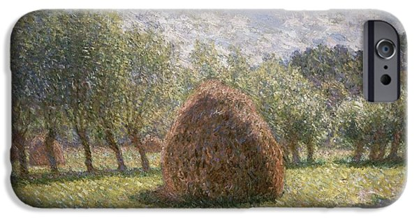 Haystacks At Giverny IPhone Case by Claude Monet