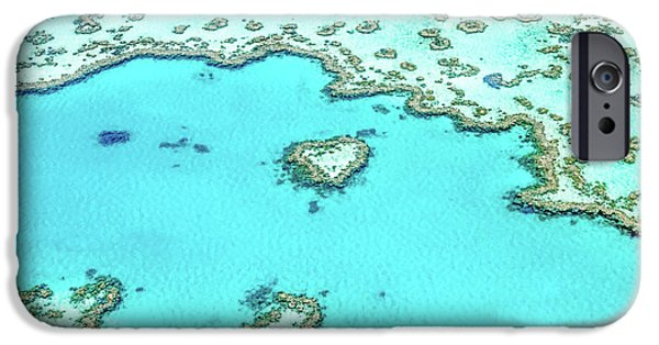 Teal iPhone 6s Case - Heart Of The Reef by Az Jackson