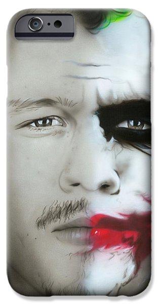 Heath Ledger iPhone 6s Case - Heath Ledger / Joker by Christian Chapman Art