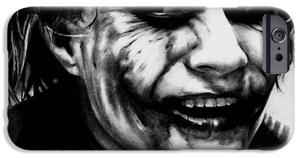 Heath Ledger iPhone 6s Case - Heath Ledger Joker by Rick Fortson