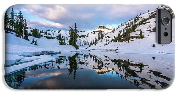 Heather Meadows Reflection Cloudscape IPhone Case by Mike Reid