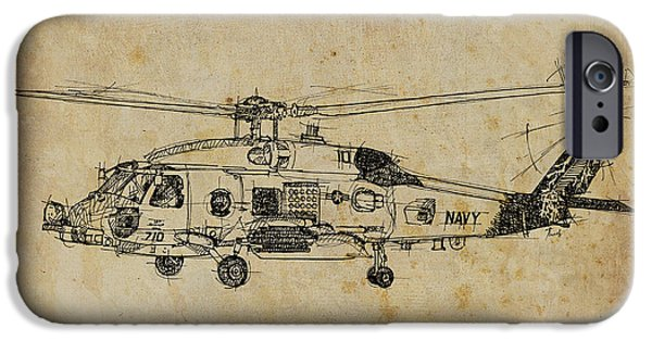 Helicopter iPhone 6s Case - Helicopter 01 by Drawspots Illustrations