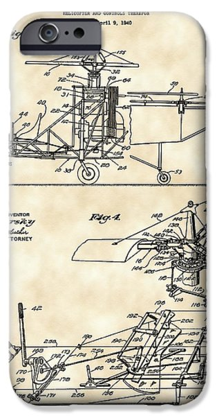 Helicopter iPhone 6s Case - Helicopter Patent 1940 - Vintage by Stephen Younts