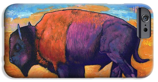Bison iPhone 6s Case - High Plains Drifter by Johnathan Harris