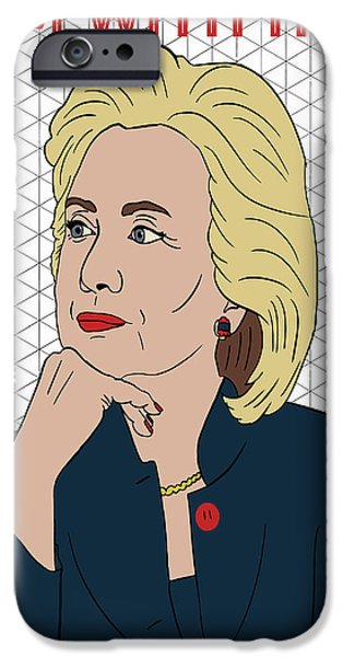 Hillary Clinton I'm With Her IPhone 6s Case by Nicole Wilson